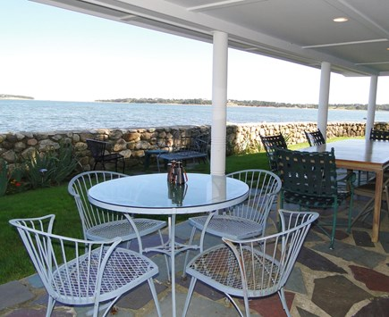 South Orleans Cape Cod vacation rental - Spacious covered patio off the bar and living room.