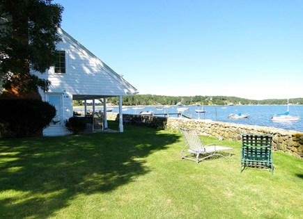 South Orleans Cape Cod vacation rental - Large lawn, stairs to water, abounding views