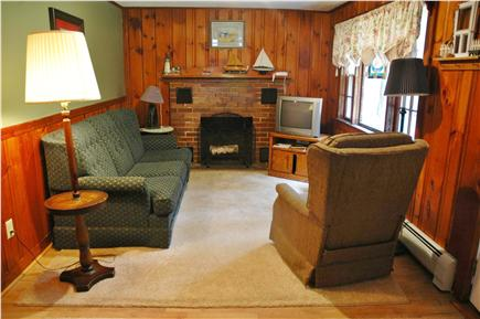 South Chatham Cape Cod vacation rental - Cozy Living room complete with fireplace