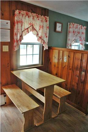 South Chatham Cape Cod vacation rental - Dining Area with Picnic Style Table and Benches