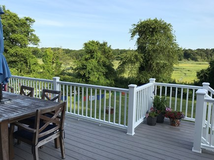 Dennis Cape Cod vacation rental - Back deck with marsh view.  Grill not pictured.