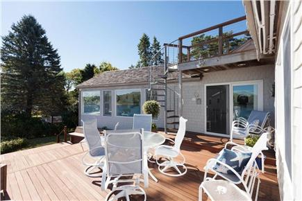 Orleans Cape Cod vacation rental - Deck offers beautiful water views & spiral stairs to roofdeck