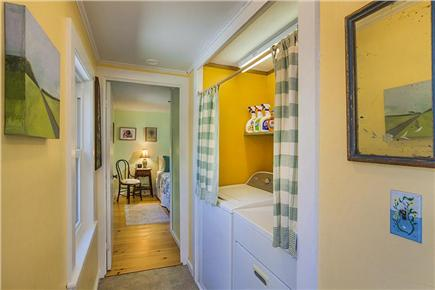 Wellfleet Cape Cod vacation rental - Hallway with washer/dryer.