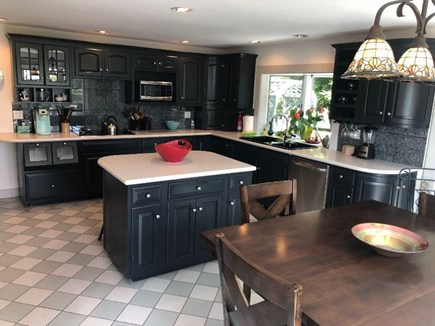 Provincetown Cape Cod vacation rental - Eat-in Kitchen and island, double wall ovens, cook-top, DW, Micro