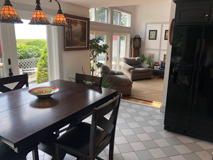 Provincetown Cape Cod vacation rental - Kitchen to sunken living room and deck