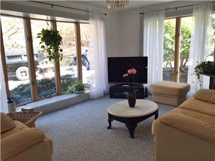 Provincetown Cape Cod vacation rental - Cozy TV room with 42'' flat screen TV, books, games etc...