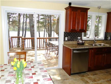 South Yarmouth Cape Cod vacation rental - Dining table sits 6, overlooks deck