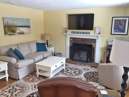 South Yarmouth Cape Cod vacation rental - Bright living room with 40 inch flat screen TV