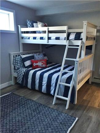 Dennis Port Cape Cod vacation rental - Twin over full bunk bedroom (has blinds)