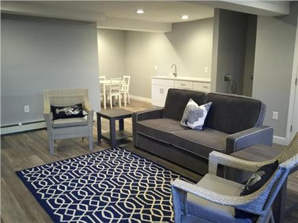 Dennis Port Cape Cod vacation rental - Family room with wetbar and dining area (quartz install 5/9)