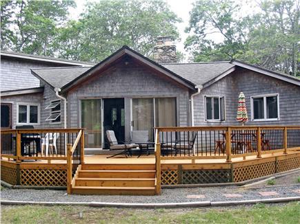Eastham Cape Cod vacation rental - Huge cedar deck new in 2013