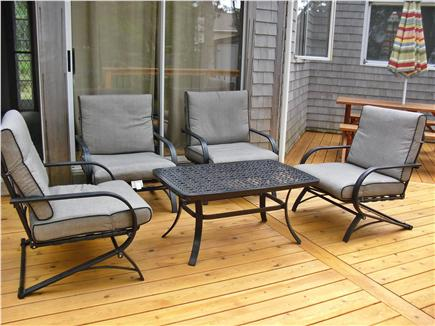 Eastham Cape Cod vacation rental - Sitting area on deck