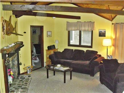 Eastham Cape Cod vacation rental - Living room area on main floor with stereo/CD/iPod player