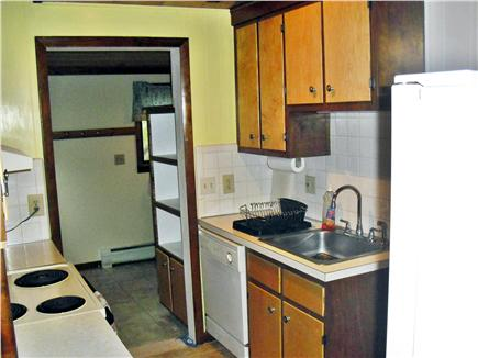 Eastham Cape Cod vacation rental - Galley style kitchen with dishwasher