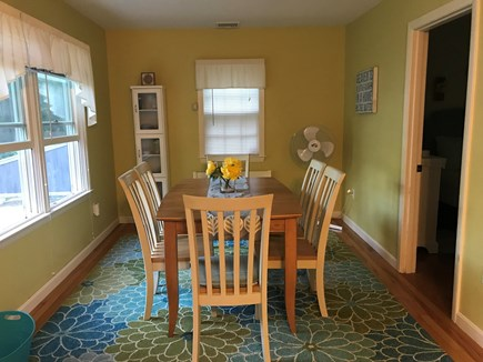 Dennis Cape Cod vacation rental - Bright, dining area with view of the pond