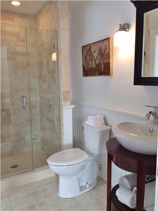 Wellfleet Cape Cod vacation rental - Second bath - basin style sink - medicine cabinet above