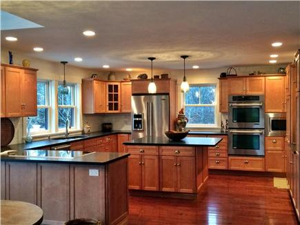 Wellfleet Cape Cod vacation rental - Kitchen - Jenn Air appliances, absolute black granite counters