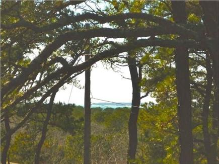 Wellfleet Cape Cod vacation rental - Peeks of the Bay and Great Island from the upper level deck