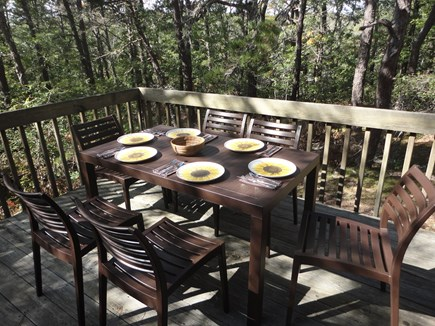 Wellfleet Cape Cod vacation rental - Private deck off back of home to dine and relax