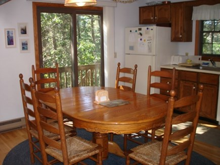 Wellfleet Cape Cod vacation rental - Dining open to living-kitchen, slider to private deck in back