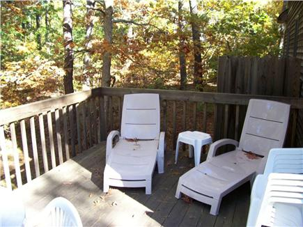 Wellfleet Cape Cod vacation rental - Private deck in back of home