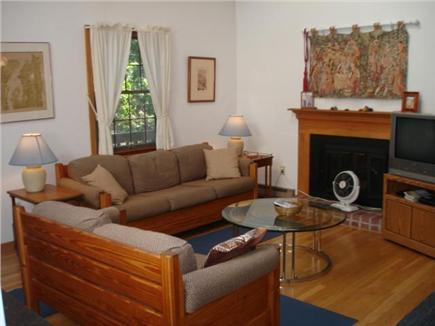 Wellfleet Cape Cod vacation rental - Living room with cathedral ceiling.