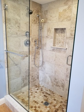 West Yarmouth Cape Cod vacation rental - Master shower includes vanity with 2 sinks