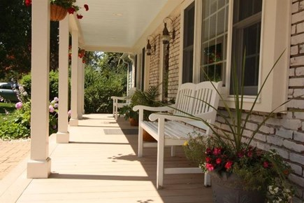 West Yarmouth Cape Cod vacation rental - Enjoy morning coffee relaxing on the farmer's porch