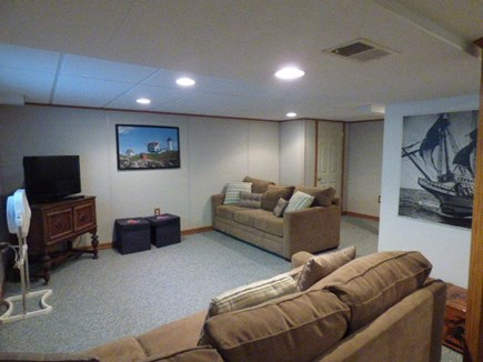 Dennis Cape Cod vacation rental - Basement is finished with pull out sofa and TV