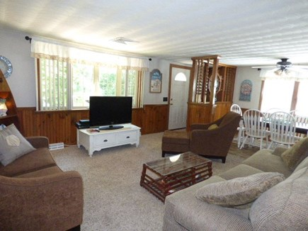 Dennis Cape Cod vacation rental - Living room with cable TV and internet.