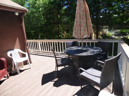Dennis Cape Cod vacation rental - Deck with new deck furniture