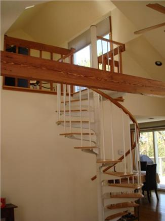 Wellfleet Cape Cod vacation rental - Spiral staircase leads you to loft and balcony deck