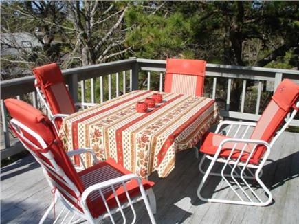 Wellfleet Cape Cod vacation rental - Deck for dining.. breakfast anyone?