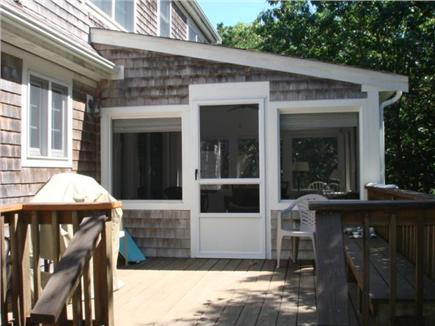 Truro Cape Cod vacation rental - Deck off of screened porch & leads to enclosed outdoor shower