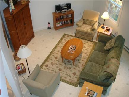 Truro Cape Cod vacation rental - Looking down into living room from upstairs