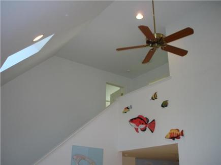 Truro Cape Cod vacation rental - Living room cathedral ceiling