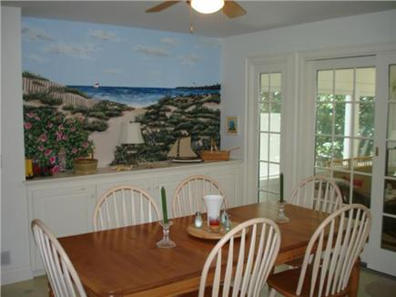 Truro Cape Cod vacation rental - Dining area open to kitchen and screened porch too