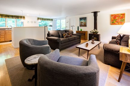 Orleans Cape Cod vacation rental - Comfortable, modern living room, kitchen and dining area