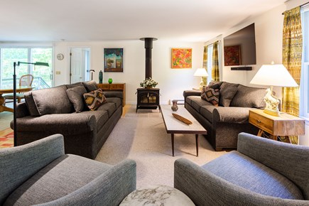 Orleans Cape Cod vacation rental - Large screen entertainment in updated living room
