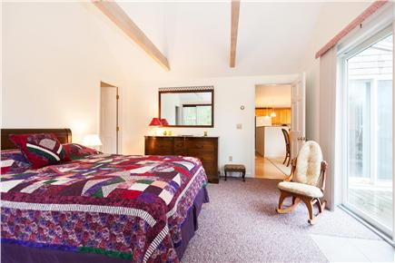 Orleans Cape Cod vacation rental - Master bedroom with slider to the deck