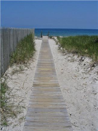 Plymouth MA vacation rental - Follow the boardwalk to steps down to the beach.