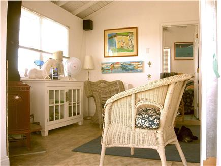 Plymouth MA vacation rental - Small main room feels larger with high open ceilings.