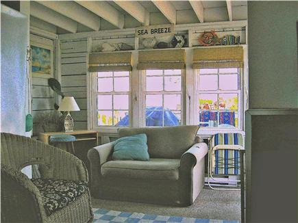 Plymouth MA vacation rental - Porch leads to lower deck and stairs to upper deck.