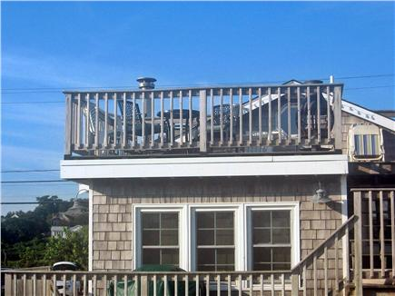 Plymouth MA vacation rental - Enjoy meals on private upper deck with ocean / beach views.