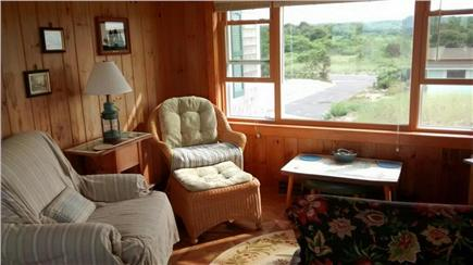 Sagamore Beach Sagamore Beach vacation rental - Dining room - sunroom, view of the meadow