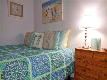 West Dennis Cape Cod vacation rental - Queen room-serene color pallate, cathedral ceilings