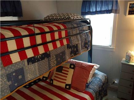 West Dennis Cape Cod vacation rental - Stars and stripes bunk room-twin over full bed