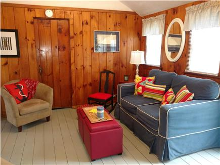 West Dennis Cape Cod vacation rental - Qintessential knotty pine walls, cathedral ceilings