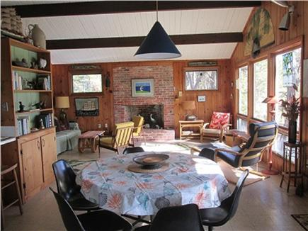 Wellfleet Cape Cod vacation rental - Open concept dining/living room with great views of Marsh