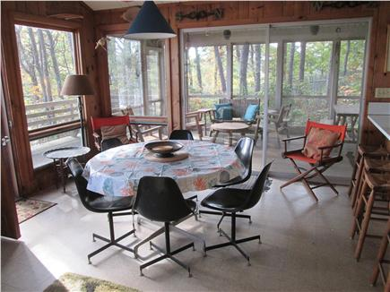 Wellfleet Cape Cod vacation rental - Dining room with direct access to screened in porch
